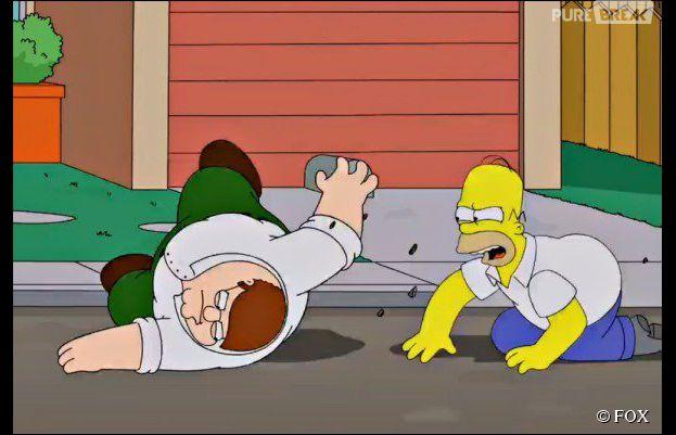 Les Simpson vs Les Griffin : bagarre alcoolisée entre Homer et Peter
