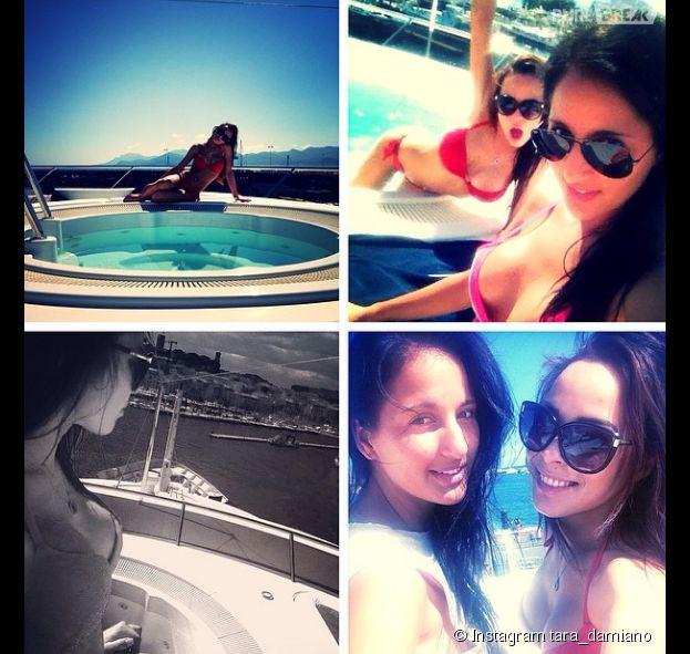 Tara Damiano prend la pose en maillot de bain à Cannes