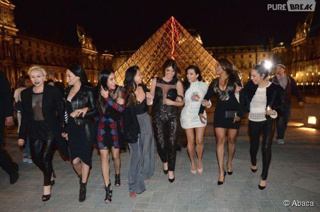 Kim Kardashian et ses copines : enterrement de vie de jeune fille à Paris le 22 mai 2014 avant son mariage avec Kanye West