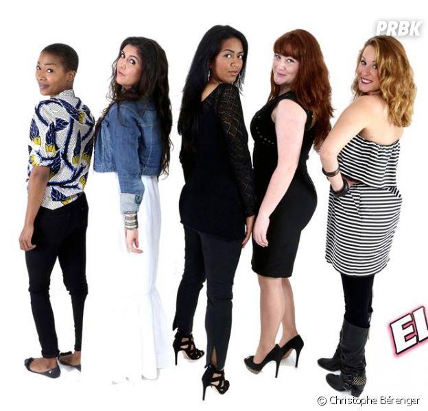 Elles : La Petite Shade, Alexia Rabé, Claudia Costa, Juliette Moraine, Tifayne, les filles de The Voice