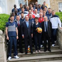 """François Hollande supporter des Bleus, Didier Deschamps coach """"exigeant"""""""