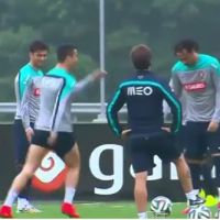 Cristiano Ronaldo danse la Samba... en plein entraînement