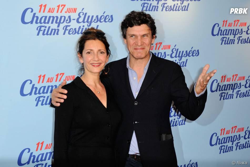 Valérie Karsenti et Marc Lavoine à l'avant-première de la comédie A toute épreuve d'Antoine Blossier, au festival du film des Champs Elysées, le 13 juin 2014