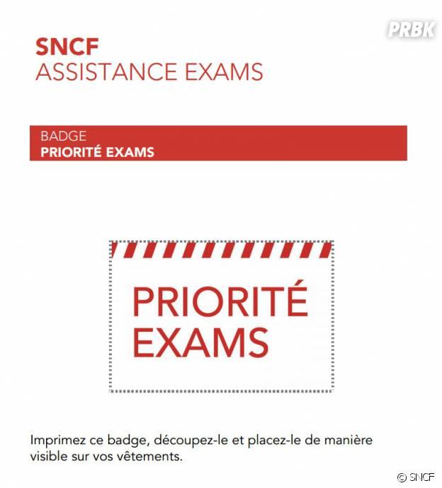 """BAC 2014 : un badge """"priorité exams"""" imaginé par la SNCF pour faciliter l'accès des lycéens aux transports malgré la grève"""