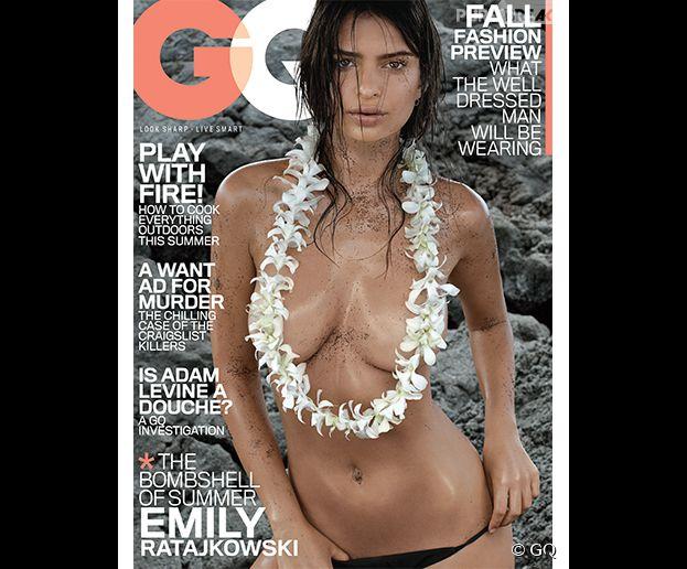 Emily Ratajkowski topless et sexy pour le magazine américain GQ