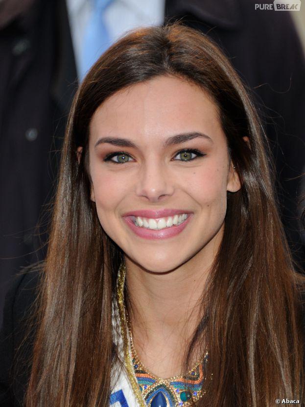 Marine Lorphelin : Miss France 2013 à la Course du Coeur à Paris, le 2 avril 2014