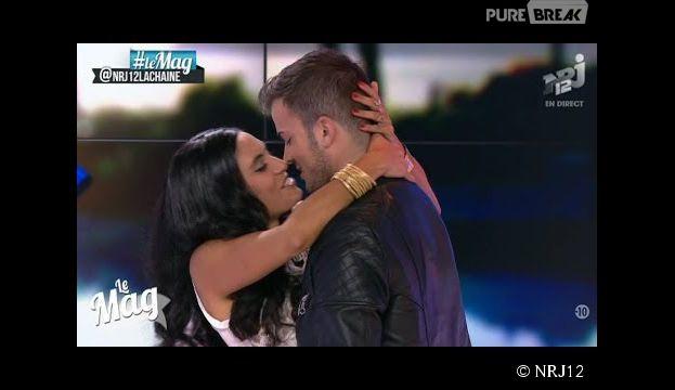 David Carreira et Cynthia Brown s'étaient embrassés pour un défi dans le Mag sur NRJ12 le 23 juin 2014