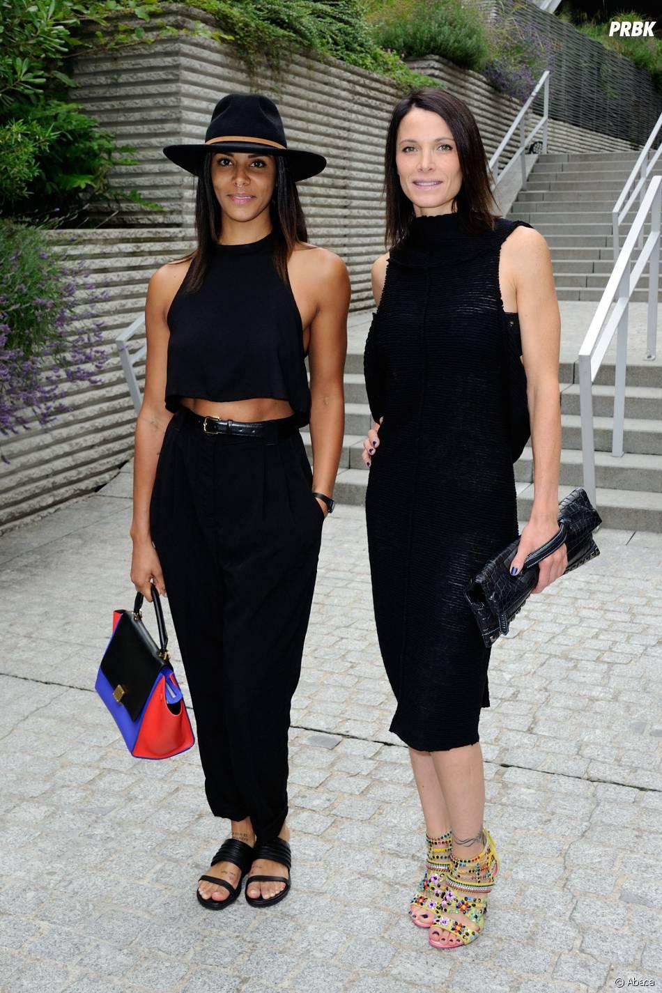 Shy'm et Laetitia Fourcade au défilé Franck Sorbier à Paris pour la Fashion week automne hiver 2014-2015, le 9 juillet 2014 à la Salle Wagram