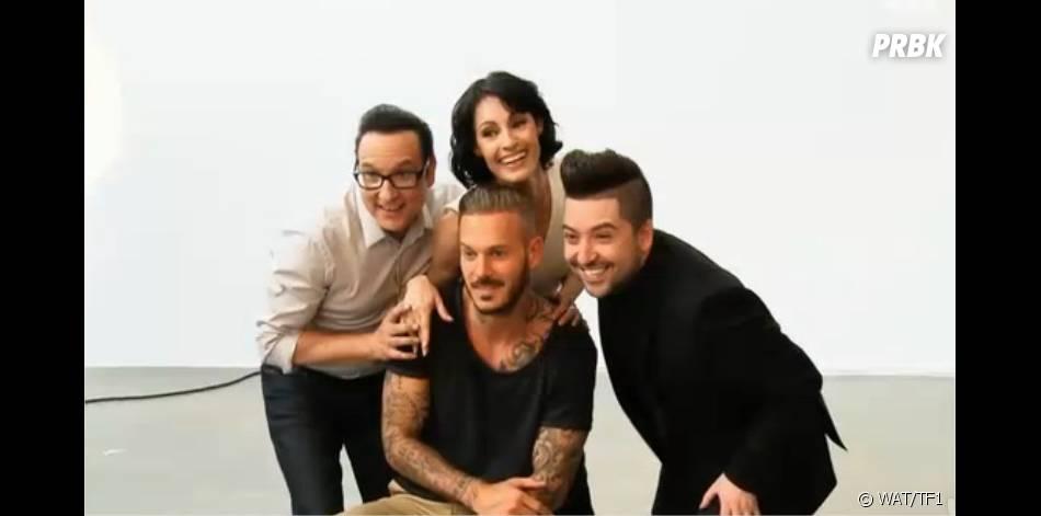 Danse avec les stars 5 : M. Pokora, Chris Marques, Jean-Marc Généreux et Marie-Claude Pietragalla sur le tournage de la bande-annonce