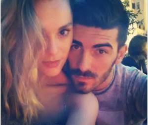 Joy Esther en couple avec Andrea : selfie en amoureux, à Rome le 2 juillet 2014