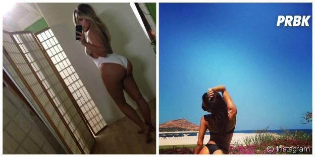 "Naya Rivera et Kim Kardashian : la pose ""je vous montre mes fesses"""