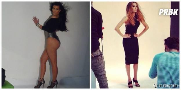 Naya Rivera et Kim Kardashian : la photo cheveux dans le vent