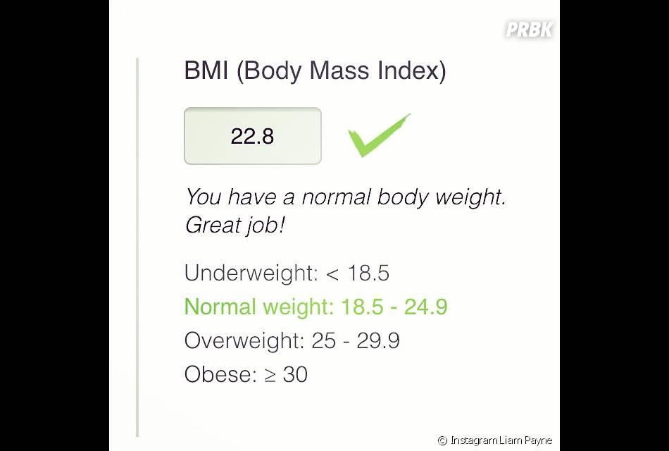 Liam Payne : son incide de masse corporelle tout a fait normal