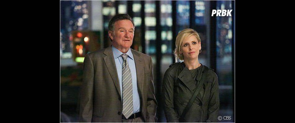 Robin Williams et Sarah Michelle Gellar dans la série The Crazy Ones