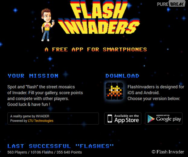 Flash Invaders : un appli pour chasser les fresques de l'artiste Invader