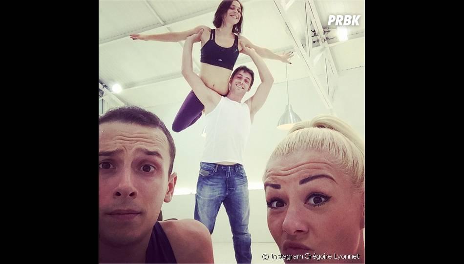 Grégoire Lyonnet en répétitions pour Danse avec les Stars 5 avec Nathalie Péchalat, Brian Joubert et Katrina Patchett