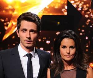 Guillaume Pley et Faustine Bollaert animateurs de Rising Star sur M6