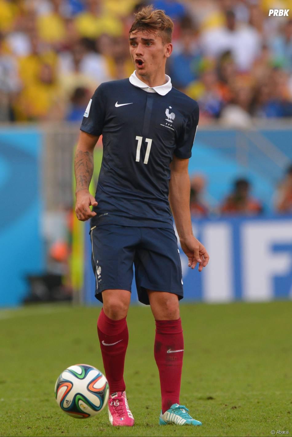 Antoine Griezmann lors du quart de finale contre l'Allemagne à la Coupe du Monde du Brésil, le 4 juillet 2014
