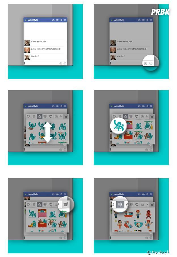 Les Stickers débarquent sur Facebook
