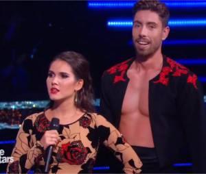 Joyce Jonathan et Julien Brugel lors du troisième prime de Danse avec les Stars 5, le 10 octobre 2014 sur TF1