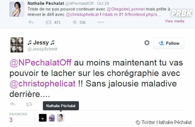 Nathalie Péchalat confirme-t-elle les rumeurs sur Twitter ?