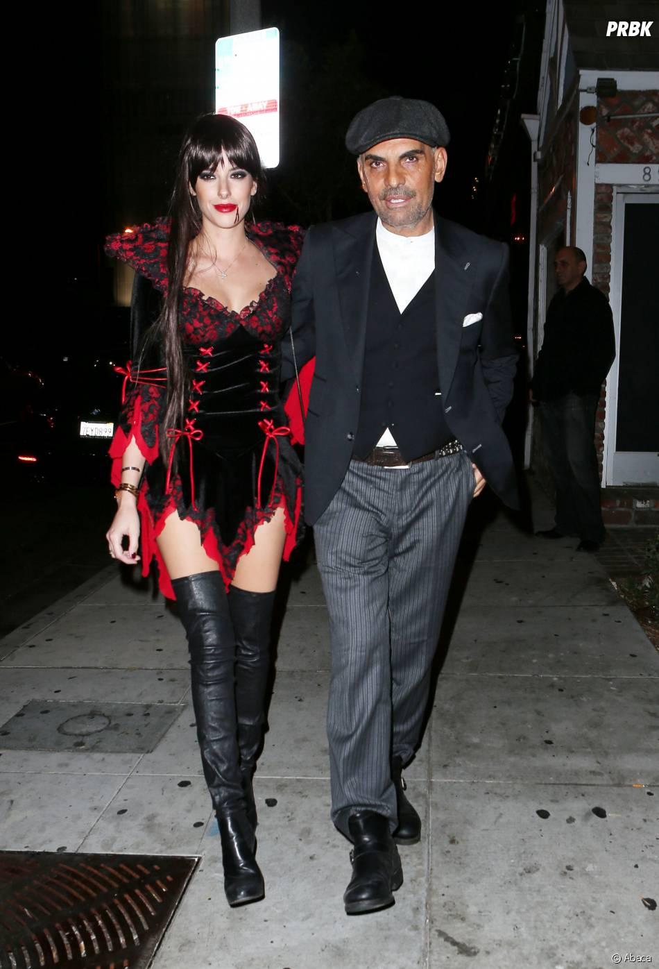 Christian Audigier et sa femme sexy Ira à Halloween 2014