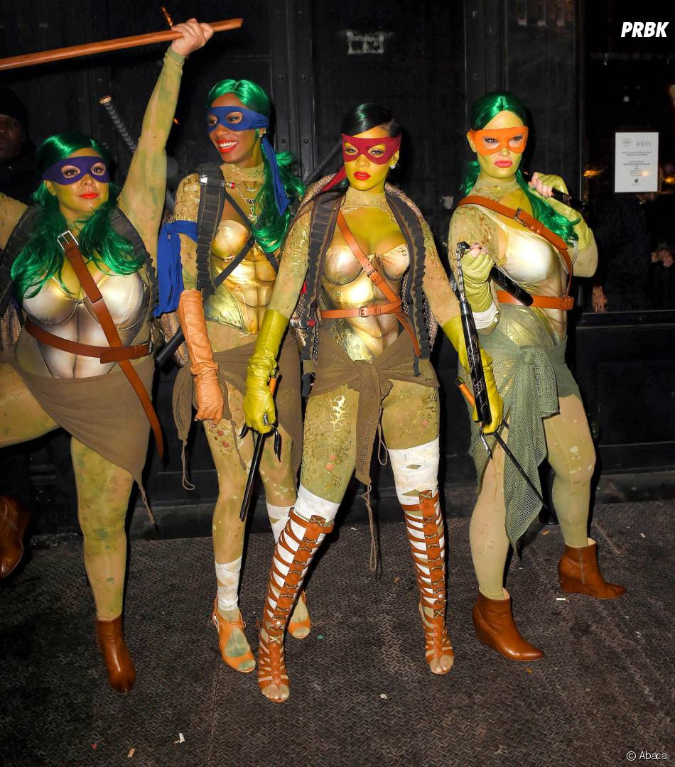 Rihanna : déguisement sexy de Tortue Ninja pour Halloween 2014