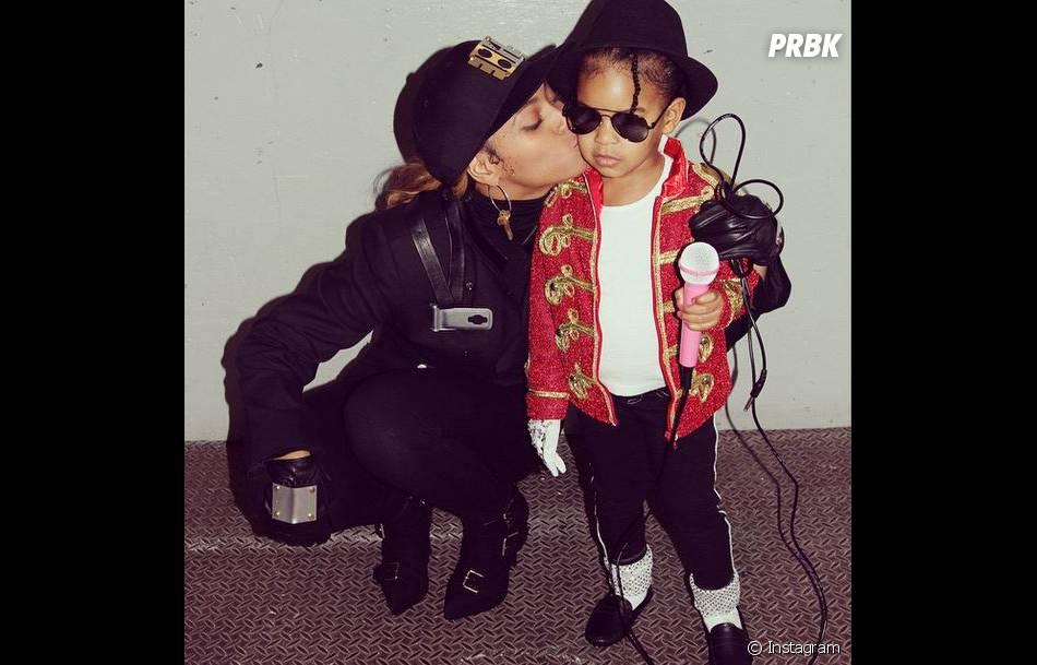 Beyoncé et Blue Ivy en Janet Jackson et Michael Jackson à Halloween 2014