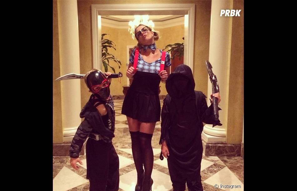 Britney Spears et ses enfants à Halloween 2014