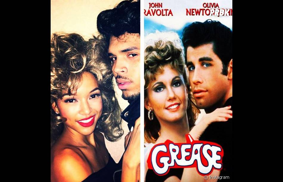 Chris Brown parodie Grease pour Halloween 2014