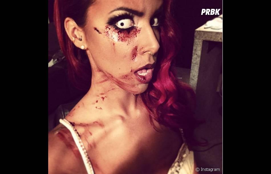 Shy'm et son déguisement qui fait peur pour Halloween 2014