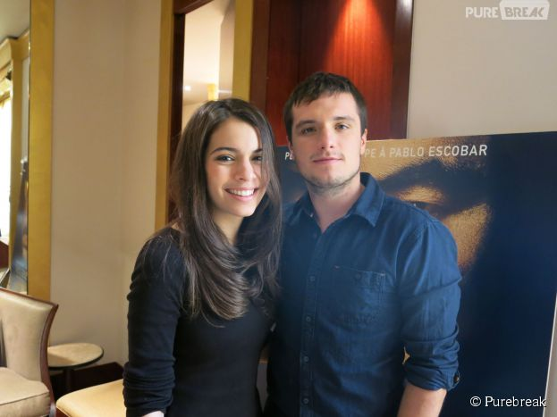 Josh Hutcherson et Claudia Treisac en interview pour Purebreak, le 22 octobre 2014 à Paris