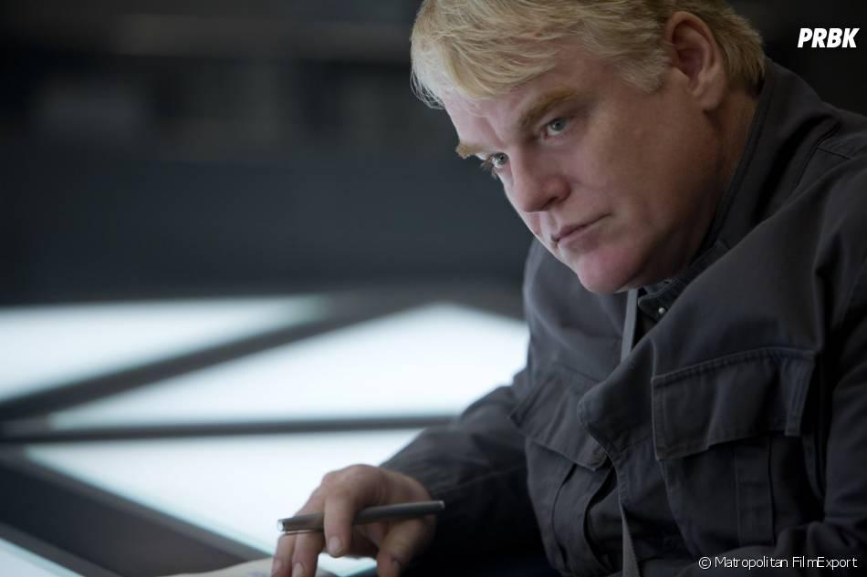 Hunger Games 3 : Philip Seymour Hoffman sur une photo du film
