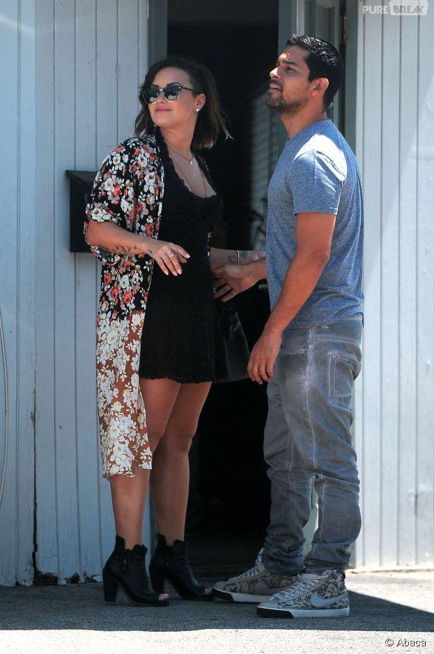 Demi Lovato et Wilmer Valderrama en couple à Los Angeles, le 22 août 2014
