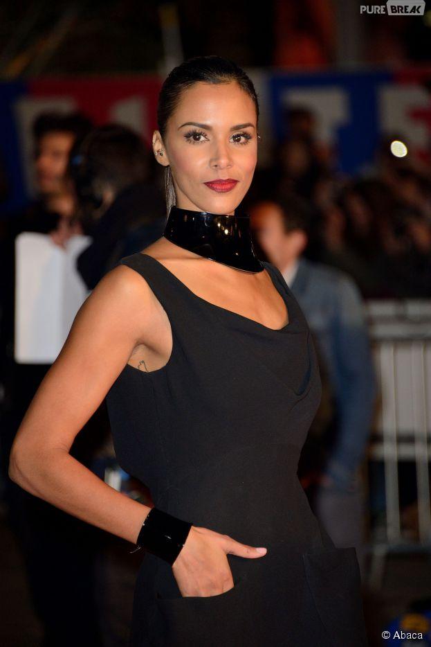 Shy'm sur le tapis rouge des NRJ Music Awards, en décembre 2013 à Cannes