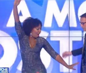 Touche pas à mon poste : Nadège Beausson-Diagne sexy avec Julien Courbet pour sa première le 21 novembre 2014 sur D8