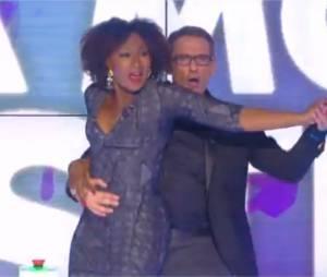 Touche pas à mon poste : Nadège Beausson-Diagne et Julien Courbet dansent pour sa première le 21 novembre 2014 sur D8