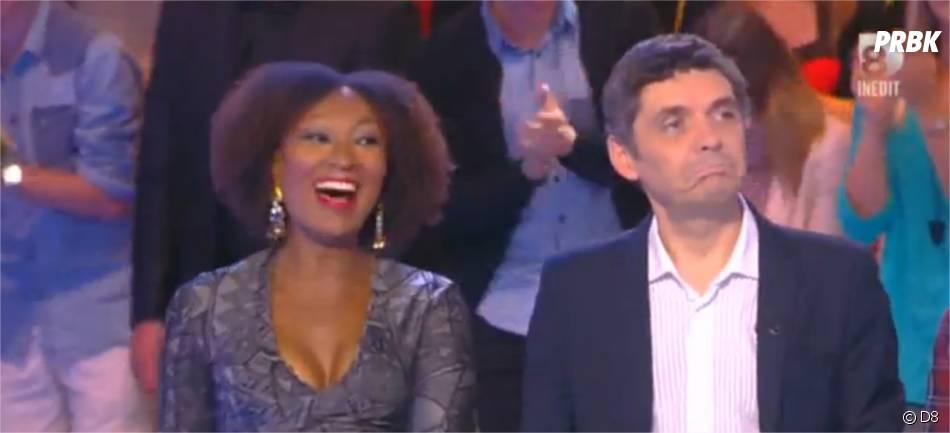 Touche pas à mon poste : Nadège Beausson-Diagne décolletée pour sa première le 21 novembre 2014 sur D8