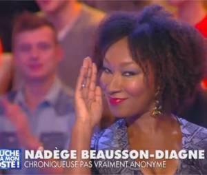 Touche pas à mon poste : Nadège Beausson-Diagne lors de sa première le 21 novembre 2014 sur D8