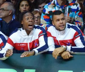 Gaël Monfils et Jo-Wilfried Tsonga pendant la Coupe Davis 2014