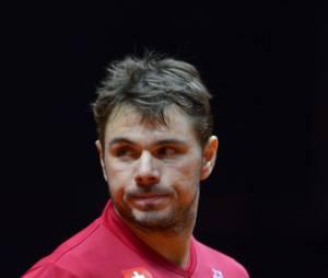 Stan Wawrinka pendant la Coupe Davis 2014