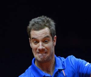 Richard Gasquet pendant la Coupe Davis 2014