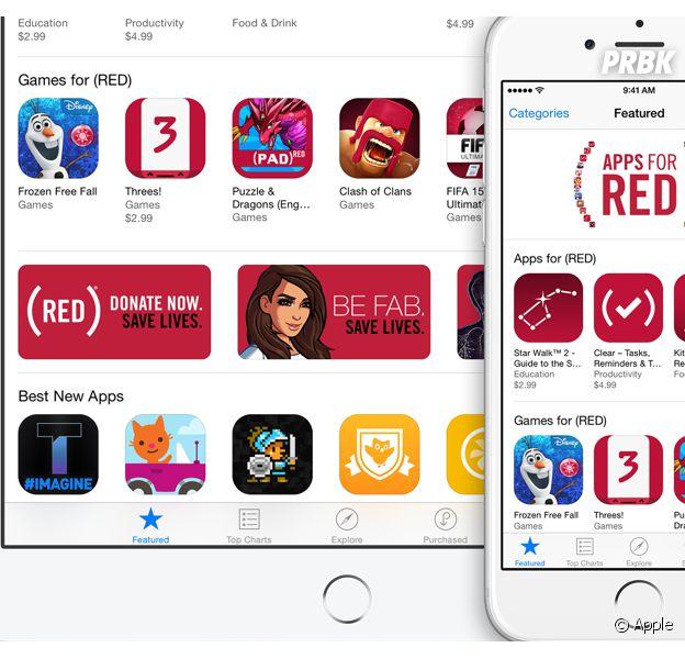 Apple : soutenez la recherche contre le sida avec les applis (RED)