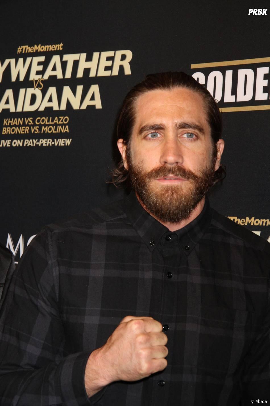Jake Gyllenhaal en mai 2014 pendant le tournage de Southpaw
