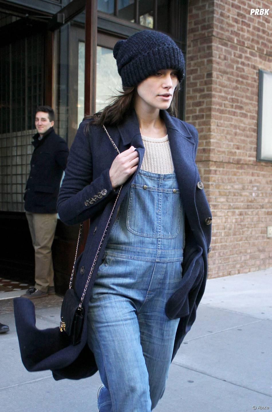 Keira Knightley enceinte à New York, le 19 novembre 2014
