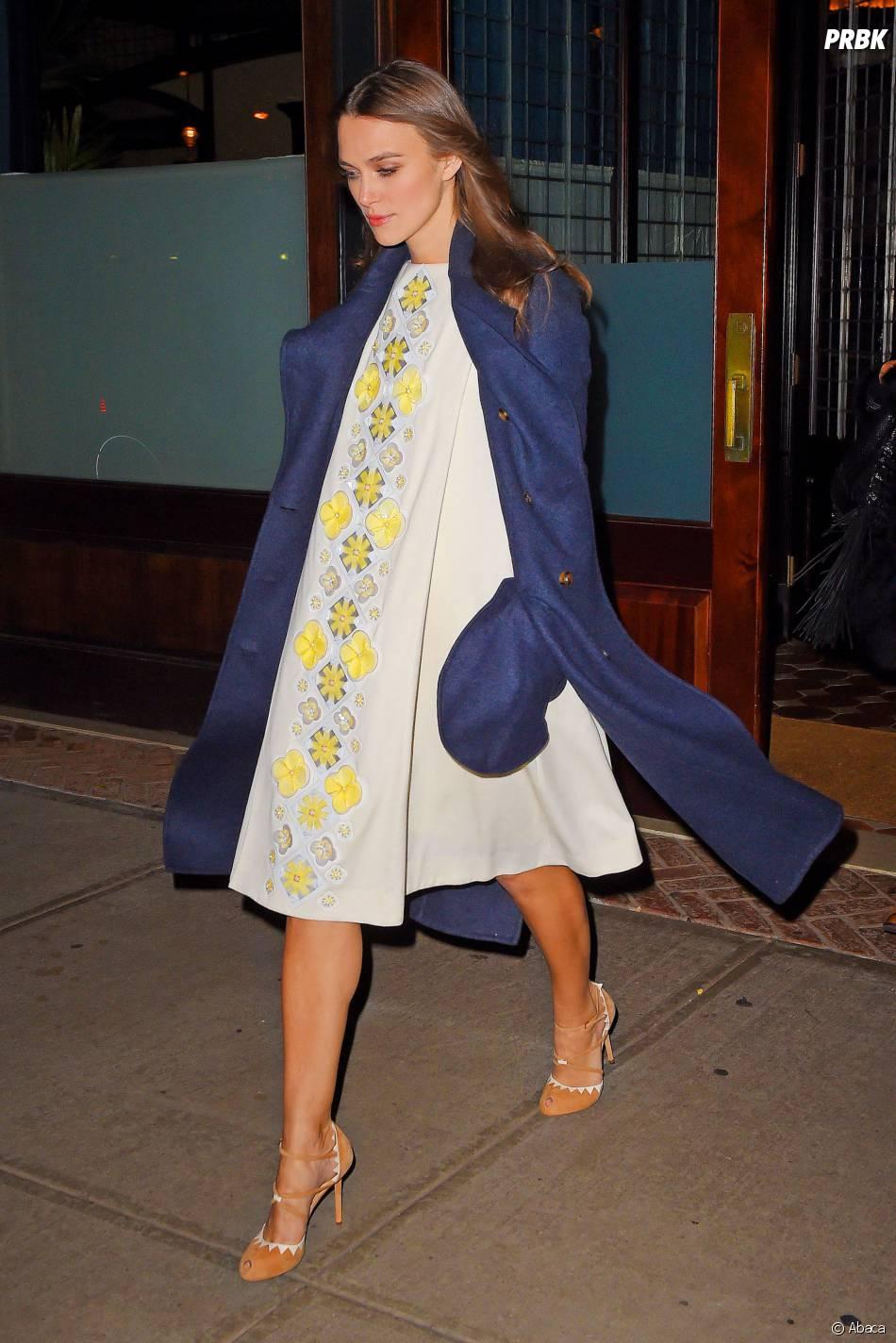 Keira Knightley enceinte à New York, le 18 novembre 2014