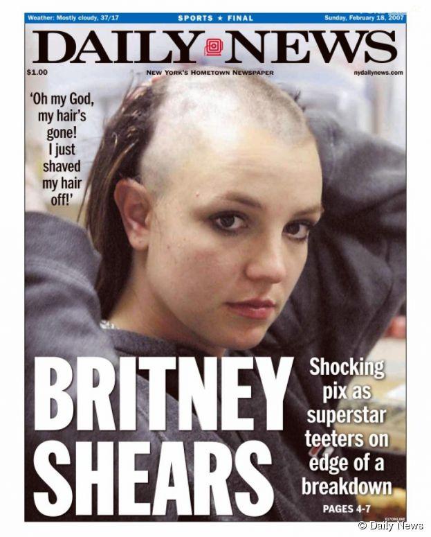Britney Spears s'est rasée la tête en 2007