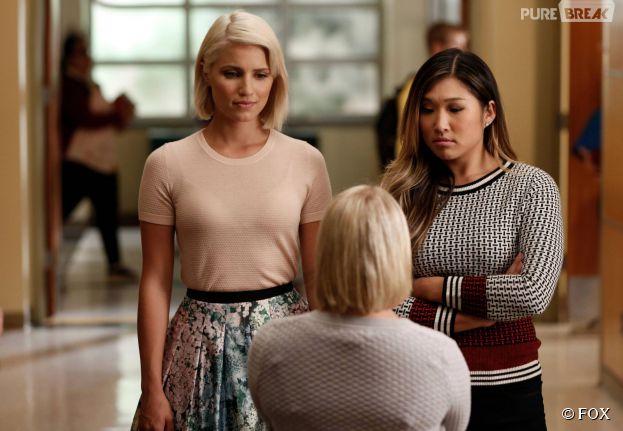 Glee saison 6, épisode 3 : Dianna Agron et Jenna Ushkowitz sur une photo