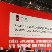 Burger King à Lille : une internaute prise au piège sur Twitter !