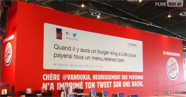 Burger King : coup de buzz sur Twitter pour l'ouverture d'un restaurant à Lille